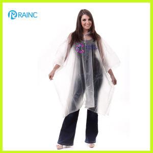 Transparent Deluxe PVC Rain Poncho pictures & photos