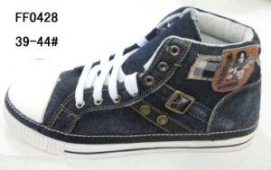 Men MID-Cut Canvas Shoes Skate Shoes Jean Shoes (FF0430) pictures & photos