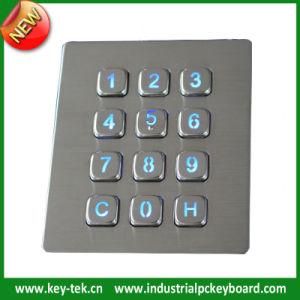 IP65 Dynamic Rated Vandal Proof Vending Machine Backlit Keypad