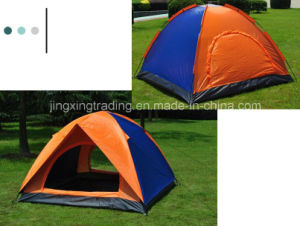 Double-Skin Polyester Camping Tent for 2-4 Persons (JX-CT020-1) pictures & photos