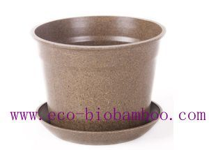 Hot-Sell Biodegradable Bamboo Fibre Flower Pot (BC-F1003) pictures & photos