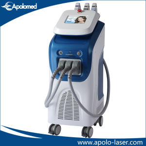 Vertical E-Light IPL Hair Removal and RF Anti Wrinkle Beauty Equipment with 3 Handpieces pictures & photos