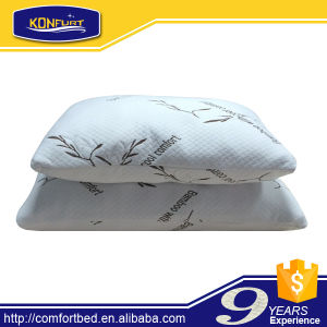 Hotel Cervical Bamboo Memory Foam Shredded Pillow Comfort Hypoallergen pictures & photos