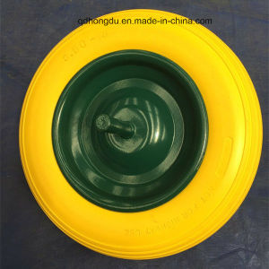 Factory Directly Sole 16 Inch PU Foam Rubber Wheel pictures & photos