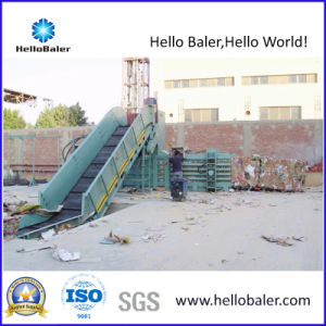 Semi-Automatic Hydraulic Waste Paper Baler with Conveyor Hsa4-7 pictures & photos