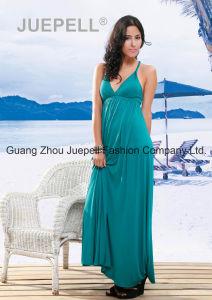 Knit Rayon Cutout Deep V Sexy Cami Maxi Dress pictures & photos