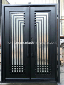 Contemporary Custom Entry Doors with Iron and Glass for Villa pictures & photos