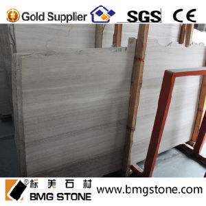 High Quality Chinese White Wood Marble for Flooring/Wall/Slab