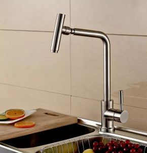 Deck Mounted 304 Cylinder Faucet Stainless Steel Basin Faucet Tap pictures & photos