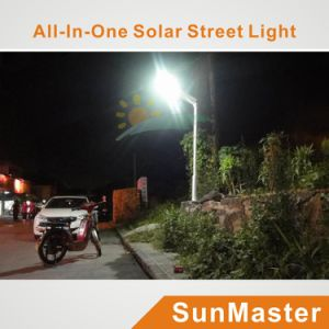 25W LED Solar Street Light All in One, Bridgelux Chip 45mil, Meanwell Driver, IP65, 3 Years Warranty pictures & photos