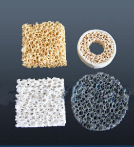 Silicon Carbide Sic Ceramic Foam Filter for Iron Casting (Material: Silicon carbide, Alumina, Zirconia, Magnesia) pictures & photos