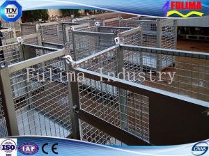 Stackable Steel Wire Mesh Storage Cage for Warehouse/Construction Site (SC-002) pictures & photos