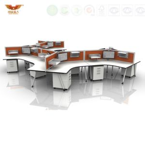 Modern Office Cubicles Modular Metal Frame Classical Round Workstation pictures & photos