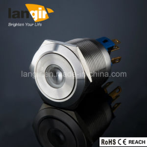 Langir 22mm Illuminated Latching 1no1nc Metal Push Button Switch pictures & photos
