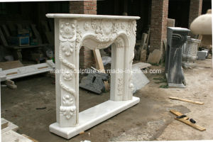 White Carrara Antique Hand Carved Marble Fireplace Mantel Sy-Mf327 pictures & photos