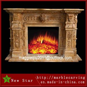 Freestanding Marble Fireplace Surround for Home Decoration pictures & photos