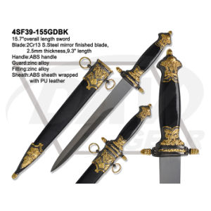 "15.7""Overall S. Steel Mirror Finished Sword with ABS Handle: 4sf39-155gdbk pictures & photos"