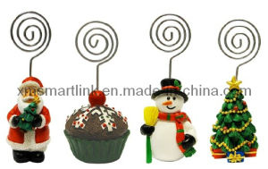 Polyresin Christmas Santa, Snowman, Christmas Tree, Clip Holder Gifts pictures & photos