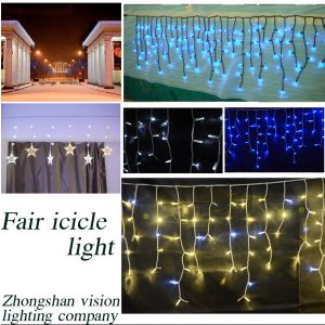Vision Lighting LED Icicle Light Curtain Light LED String Fairy Light for Outdoor Decoration pictures & photos