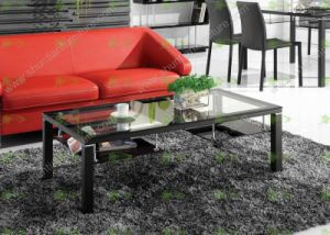 (SJ-060A) Home Furniture Square Tempered Glass Coffee Table pictures & photos
