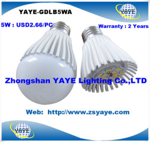 Yaye Top Sell Competitive Price High Quality E27 5W LED Bulb with USD2.66/PC pictures & photos