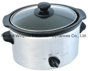 4-Qt (3.5-Liter) Manual Slow Cooker, Stainless Steel