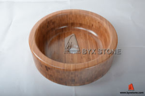 Thick Edge Round Bamboo Sinks for Home Bathroom pictures & photos