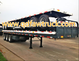 40′ Flat Bed Container Semi Trailer pictures & photos