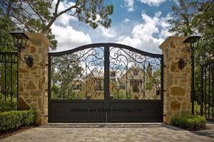 Elegant Design Decorative House Used Wrought Iron Gates pictures & photos