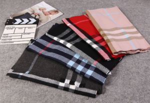 Winter Knitting Cashmere Pashmina Plaid Scarf for Male Female pictures & photos