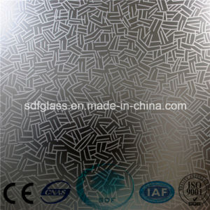Acid Etched Glass/Frosted Glass/Art Glass with Ce, ISO/ Sdf007