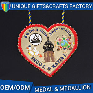 Custom Peach Dove Medal Friendship Medal for Sale pictures & photos