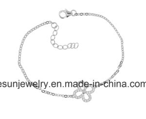 Fashion Silver Jewelry Simple Flower Bracelet pictures & photos