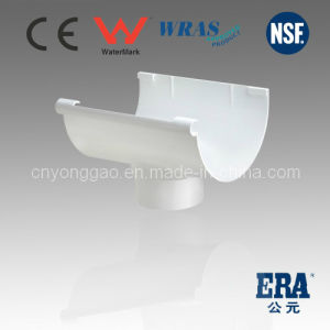 PVC Rainwater Gutter and Fittings Parts Rain Gutter for DIN Standard 110mm, 140mm, 170mm pictures & photos