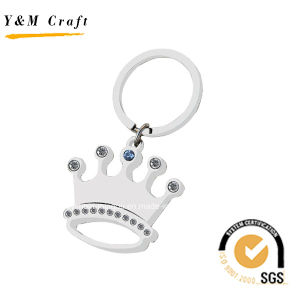 The Crown Shaped Silver Key Chain with Diamonds and Crystal Ym1029 pictures & photos