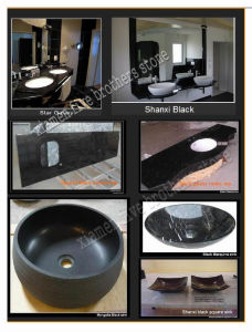 Class Black Vanity Top Granite Kitchen Sink