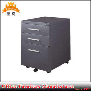 Latest Design Mobile Wheel Design Steel 3 Drawer Movable File Cabinet pictures & photos