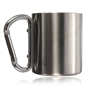 18-8 Stainless Steel Coffee Mug Camp Camping Cup Carabiner Hook Double Wall BPA Free Mug Outdoor Mug pictures & photos