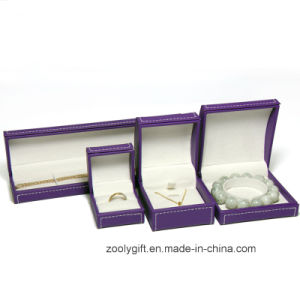 Stitching Leather Jewellery Box Ring / Necklace / Bracelet Packing Box pictures & photos