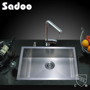 Expertly Brushed Hand Made Kitchen Sink in 304 Type Stainless Steel SD-305cl pictures & photos