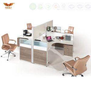 Modern Office Workstation Partition Layout for 4 People (HY-P05)