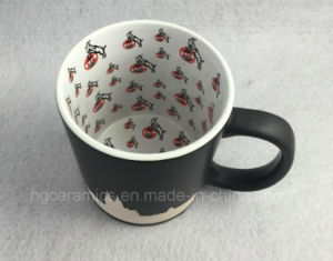 Full Inner Decal Printing Black Mug, Sandblast Mug pictures & photos