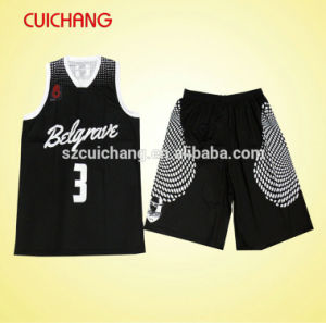 Custom Low Price Polyester Sublimation Basketball Jersey Latest Design 2015 Cheap Basketball Uniform pictures & photos