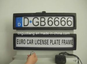Remote Car License Plate Frame