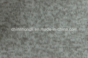 Hacci 100%Poly, 300GSM, Brushed Heather Knit Fabric for Sweater with Thermal pictures & photos