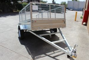 7X5 Full Welded Tipper Galvanised Box Trailer with 600mm Cage
