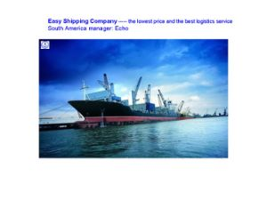 Professional Consolidate Shipping Servicefrom China to South America Shipping Service pictures & photos
