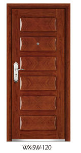 Low Price High Quality Steel Wooden Door (WX-SW-120) pictures & photos