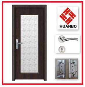 New Deisgn Interior MDF Wood Glass Door Manufacturer Hb-114