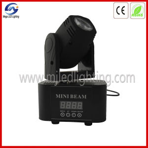 10W White Lumen Mini LED Moving Head Beam Light